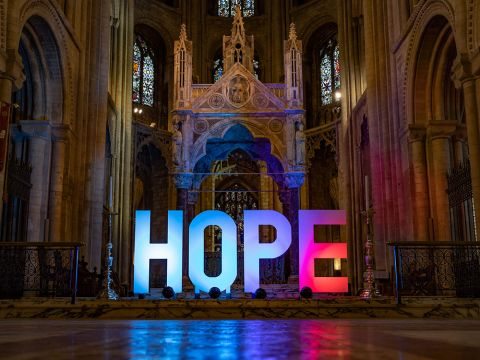 'Hope' from Peterborough Cathedral's prayer trail.